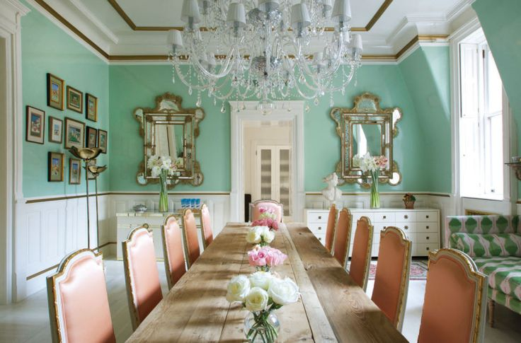 195 Best Dining Rooms Images On Pinterest House Interiors Elle Decor And D