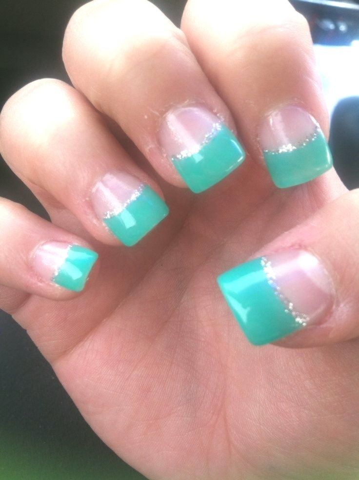 Acrylic Nails Teal Simple Nail Art Designs And Ideas For Different
