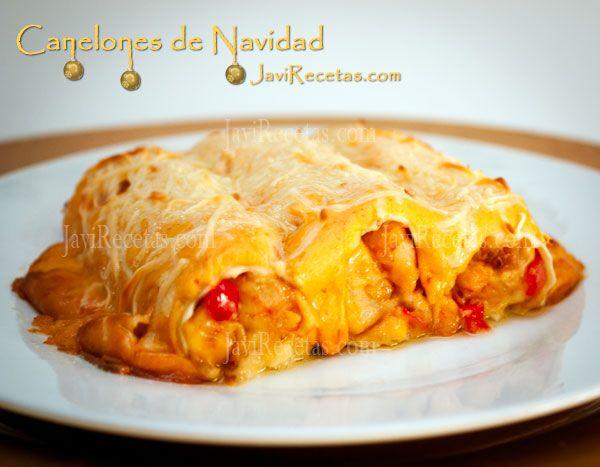 Una #receta clásica para estas fiestas: los canelones de navidad!!!  http://www.javirecetas.com/canelones-de-navidad/