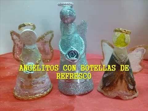 Angelitos con envases de refresco / Christmas Angel out of soda bottles