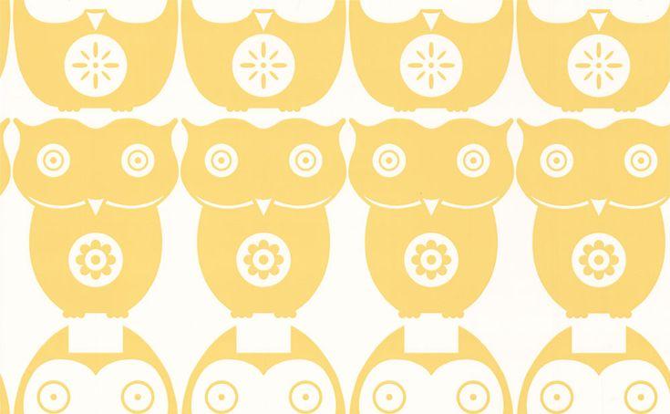 Owls  Yellow Daisy wallpaper by Layla Faye