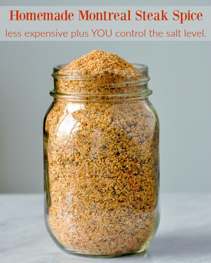 Homemade Montreal Steak Spice. Far less expensive and you control the salt level.