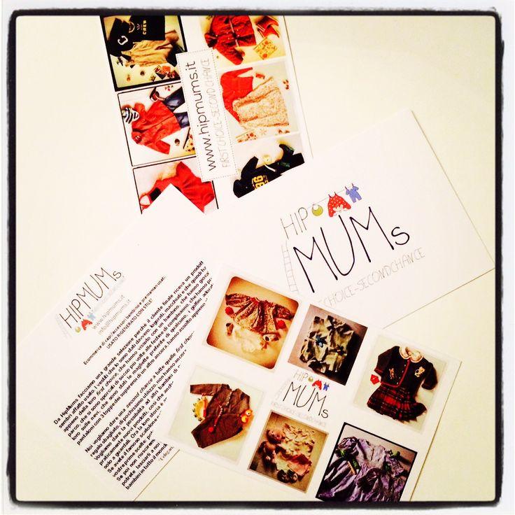 #HipMums Marketing! Sono arrivate anche le nuove cartoline :-)  #ecommerce #marketing #fashionkids #bimbi #mamma #vestiti #bambini