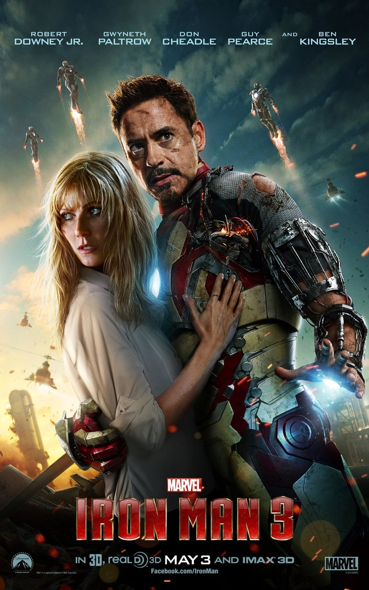 Tony Stark and Pepper Front and Center in New Iron Man 3 Poster - IGN