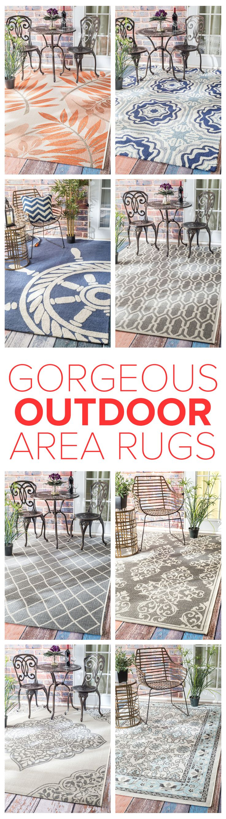 Outdoor rugs are durable, colorful, and fitting for any spaces inside and out! Visit Rugs USA to see a variety of gorgeous and fascinating styles with savings of up to 80% off!