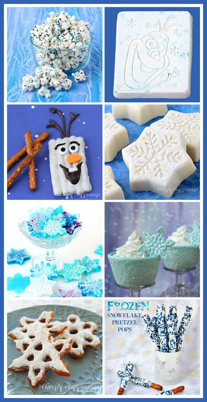 Fun and easy Disney Frozen Treats to make for your Frozen party. See the recipes at HungryHappenings.com.