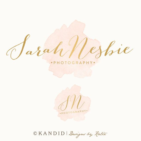 Premade Watercolor Logo and  Watermark by KMarshPhotos on Etsy, $35.00