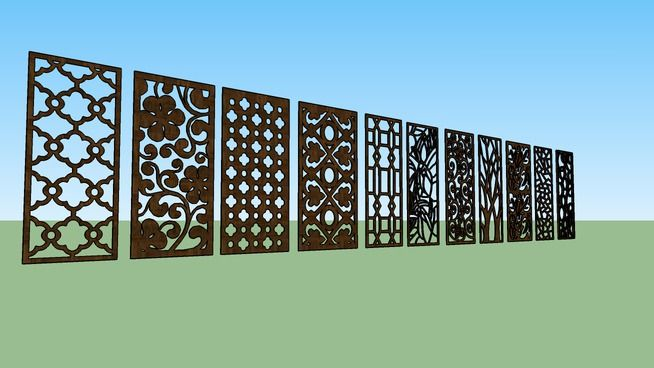 Large preview of 3D Model of Motif Laser Cutting - Part 1 Sketchup