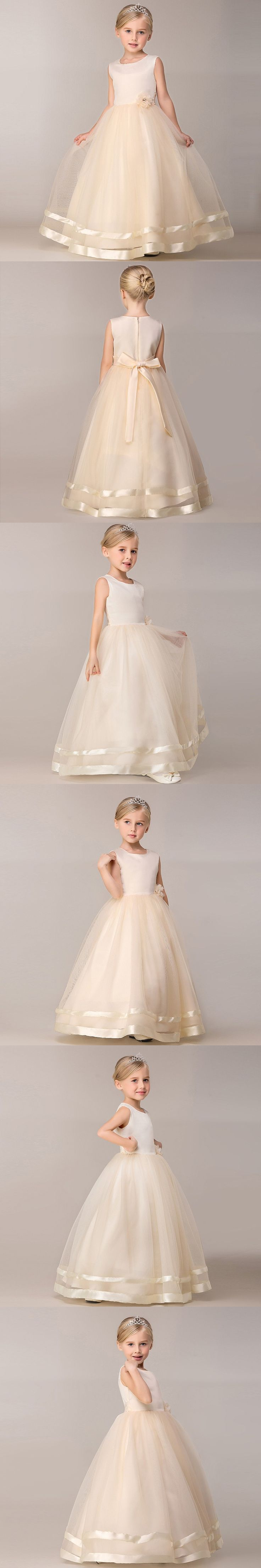 Elegant Princess Girl Kids Prom Party Dress Flower Wedding Christening Gown Teenager Tulle Dresses Clothes Girls 4 5 6 8 10 Year $17.17