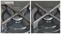 Cómo limpiar los fogones y quemadores sin esfuerzo. Truco de cocina para limpiar las cocinas de gas sin tener que frotar ni respirar sustancias t�...