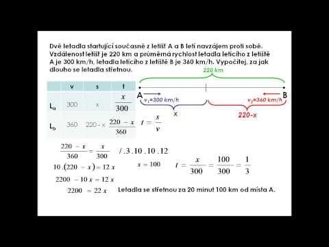 Slovní úlohy o pohybu - YouTube