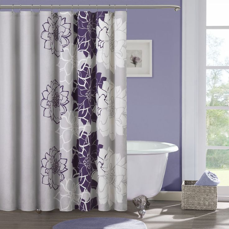 Constructed out of solid cotton for a soft texture  this floral shower  curtain will effectivelyBest 25  Elegant shower curtains ideas on Pinterest   Elegant  . Purple Shower Curtain Liner. Home Design Ideas