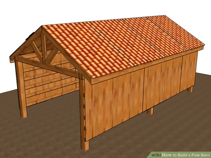 3 Ways to Build a Pole Barn - wikiHow                                                                                                                                                     More