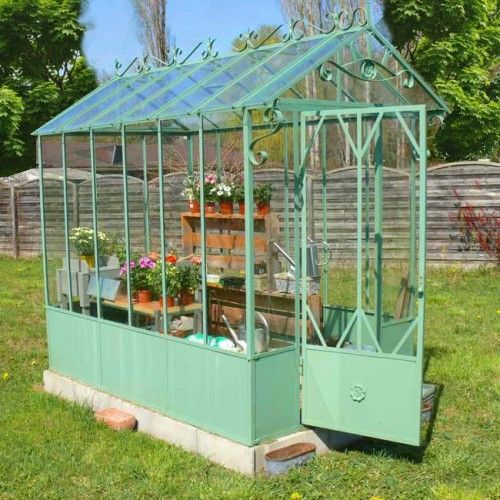11 best serre moi fort images on pinterest greenhouses for Decoration fer forge pour jardin