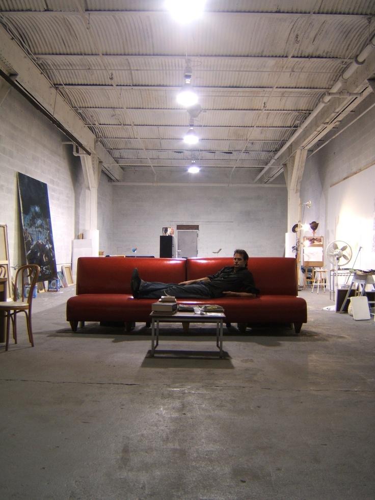 """Nicola Verlato alla conquista dell'America: sbarco a New York il 15 gennaio 2004 (""""Un freddo tremendo, quell'anno…"""") e studio a Williamsburg, Brooklyn, nel 2005. Foto Alessandro Simonetti."""