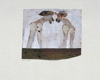 mezclado de pintura sobre papel los medios de comunicación.  Pintado sobre papel de Canson .Scott Bergey.