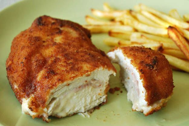 San Jacobos | 17 Classic Spanish Dishes With breaded chicken and ham and cheese on inside, San Jacobos are a flavor explosion in the best way. Get the recipe here.