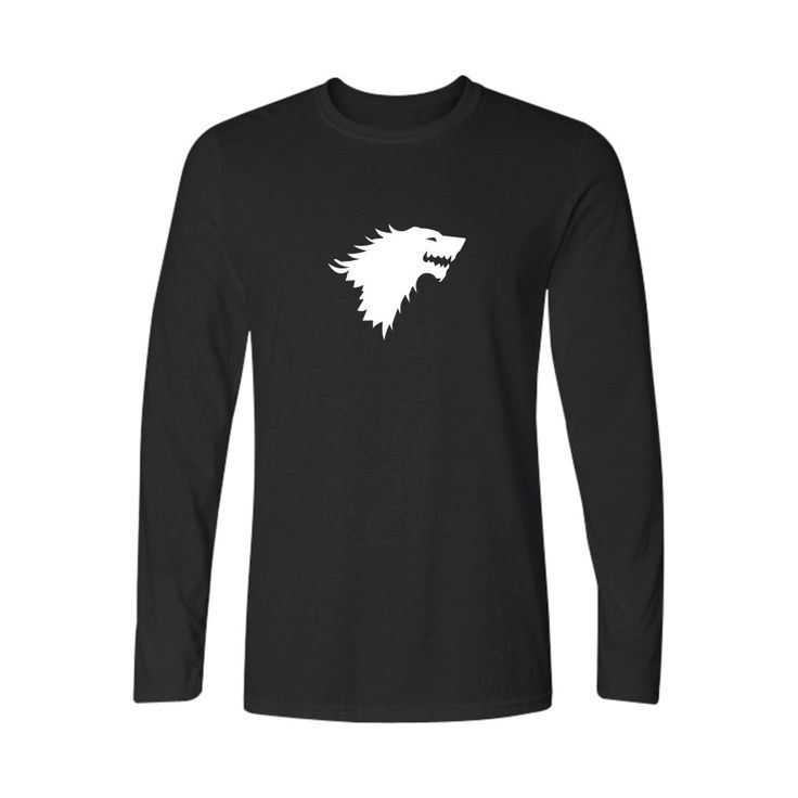 Famous Brand Game of Thrones 4xl Cotton Long Sleeve T Shirt Men and Funny T-shirt Men in Long Sleeve Cotton Tee Shirt - Direwolf Shop Direwolf Shop