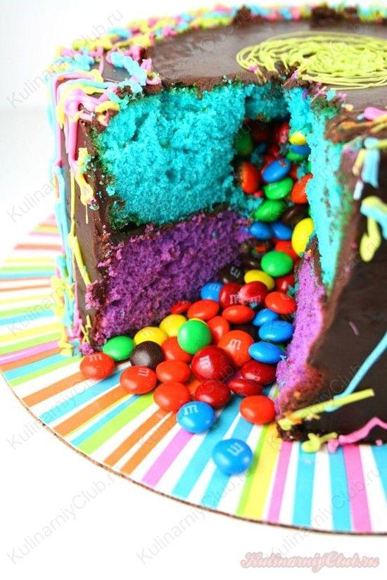 Как сделать торт пиньята, торт с сюрпризом Pinata cake