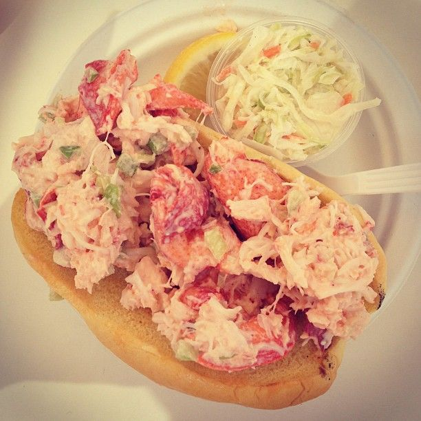 Lobster roll at Gosman's Dock in Montauk, NY
