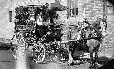 Barkly Bakery horse and cart ~ Footscray,Victoria in 1939.A♥W