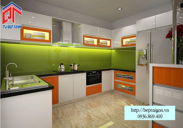 Thi công tủ bếp Acrylic tại Bình Dương - MTB39