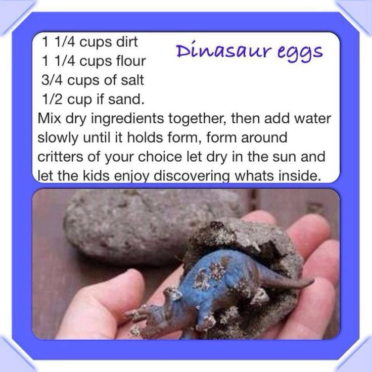 Dinosaur birthday party follow above recipe. Poor water very slow. Too much water makes you need more flour. Can bake at 170° for 20-30 min to harden the eggs faster.