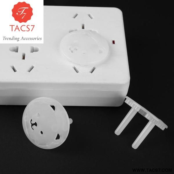 5PCS Electric Socket Safety Covers Child Baby Protector Mains Plug Cover White