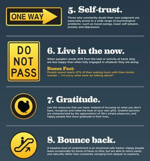 Signs of Happiness Infographic