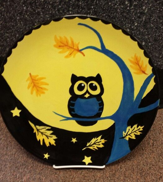 halloween owl plate - Halloween Ceramic Plates