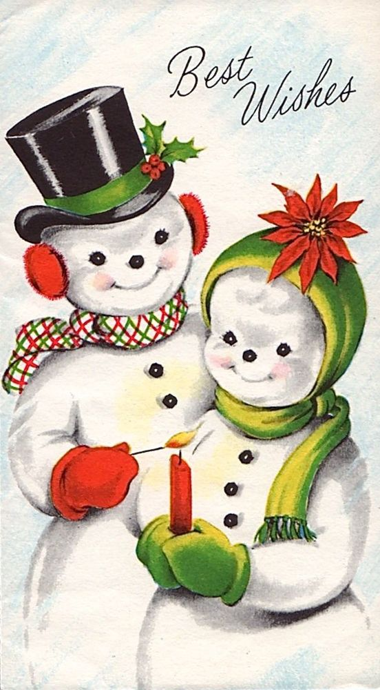 Best old fashioned christmas cards snowmen images