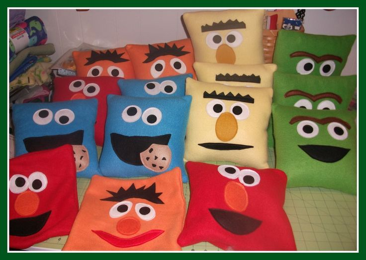 Sewing Miles of Smiles...: Cookie Monster, Elmo, Bert & Ernie & Oscar!