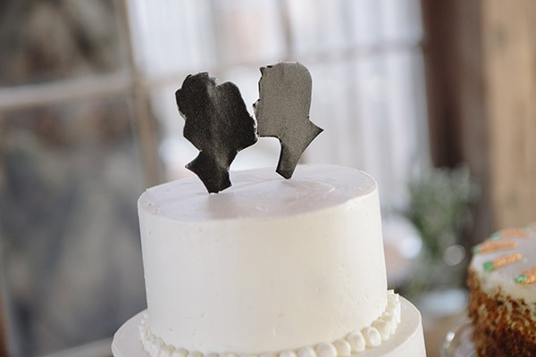 silhouette cake topper   Paige Winn #wedding