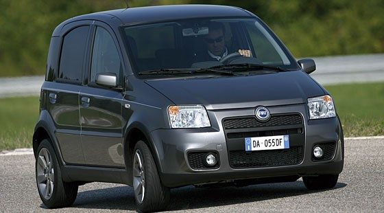 Fiat Panda: What's this, surely not a hot Panda? Well it's been a while since 100bhp constituted 'hot' but that's essentially what you're looking at.
