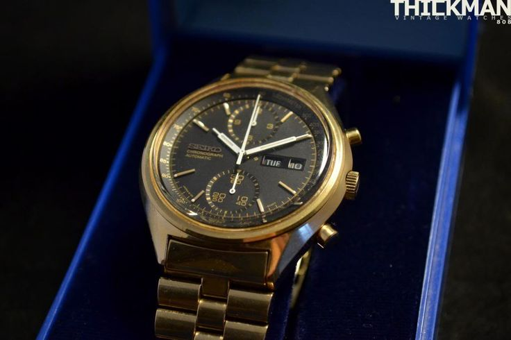 Image result for seiko 6138-8020 gold for sale