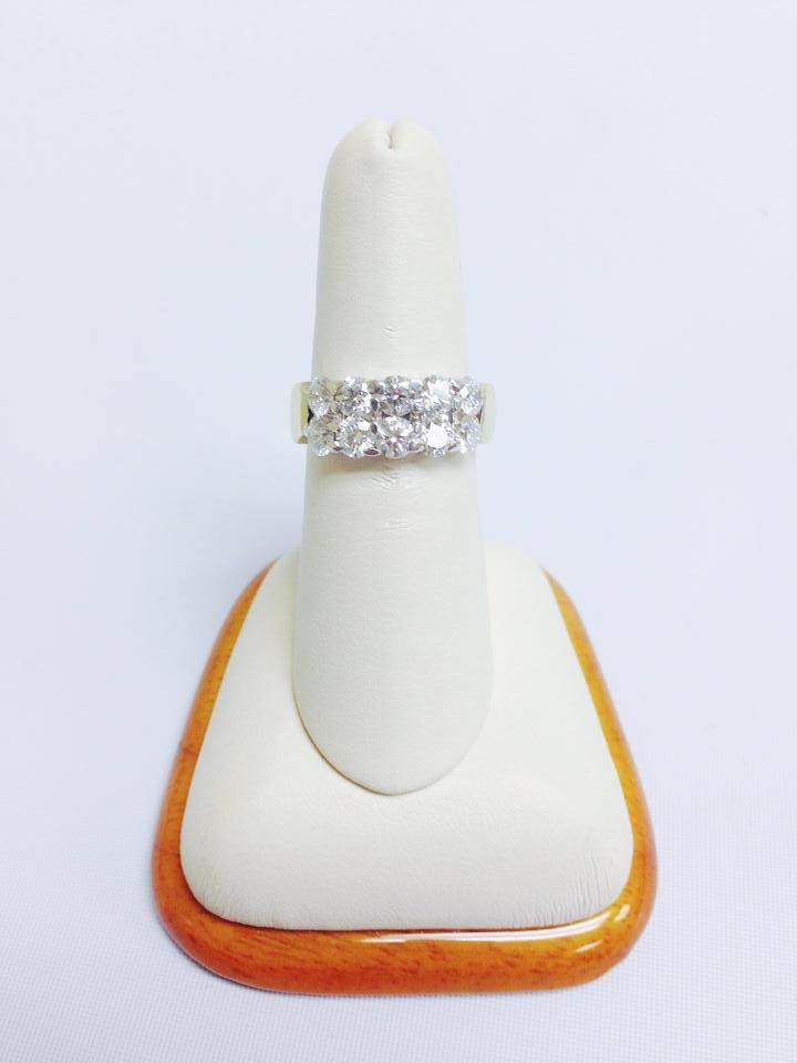 Hearts on Fire 2 carat 18 Kt and Platinum band. $12,000