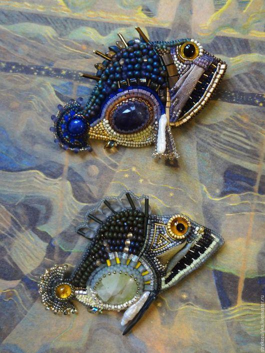 """Броши ручной работы. Ярмарка Мастеров - ручная работа. Купить Рыбка 4. Из серии """"Обитатели океанских глубин"""". Handmade."""