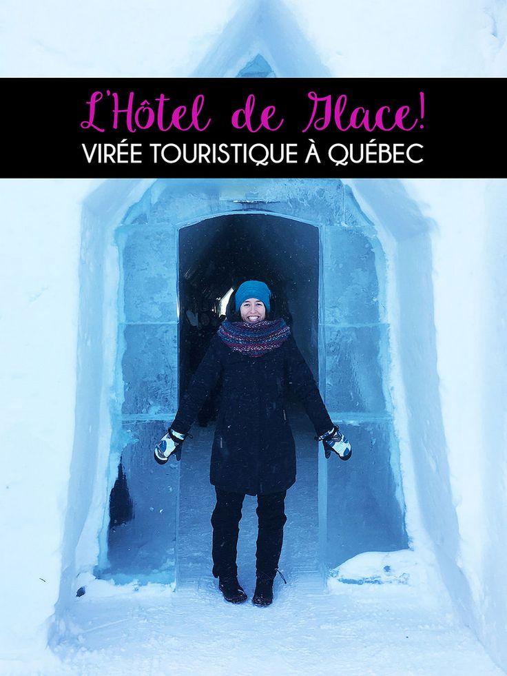 Virée touristique à Québec: l'Hôtel de glace #Quebec #Canada #travel #voyage #backpack #hiver #winter