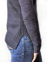 Пуловер с удлиненной спинкой описание