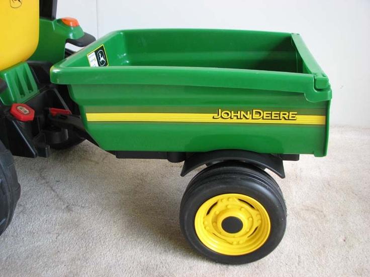 Peg Perego John Deere Trailer | Peg Perego John Deere Loader Tractor 12V Power Wheels Hardly Used New ...