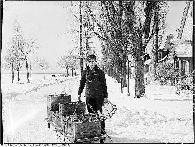 Delivering milk on Toronto Island by Toronto History, via Flickr