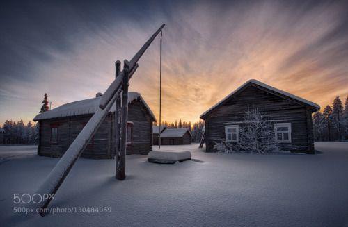 Kaunislehto by enoelmeri clouds europe finland hyrynsalmi kainuu kaunislehto oravivaara sky snow sunset winter Kaunislehto en