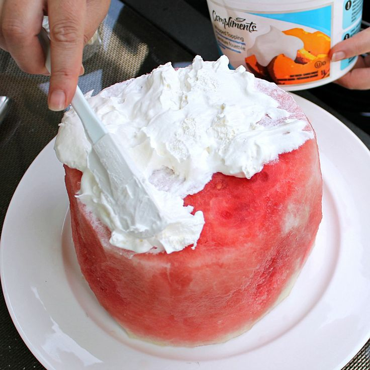 Watermelon Cake for Canada Day & 4th of July