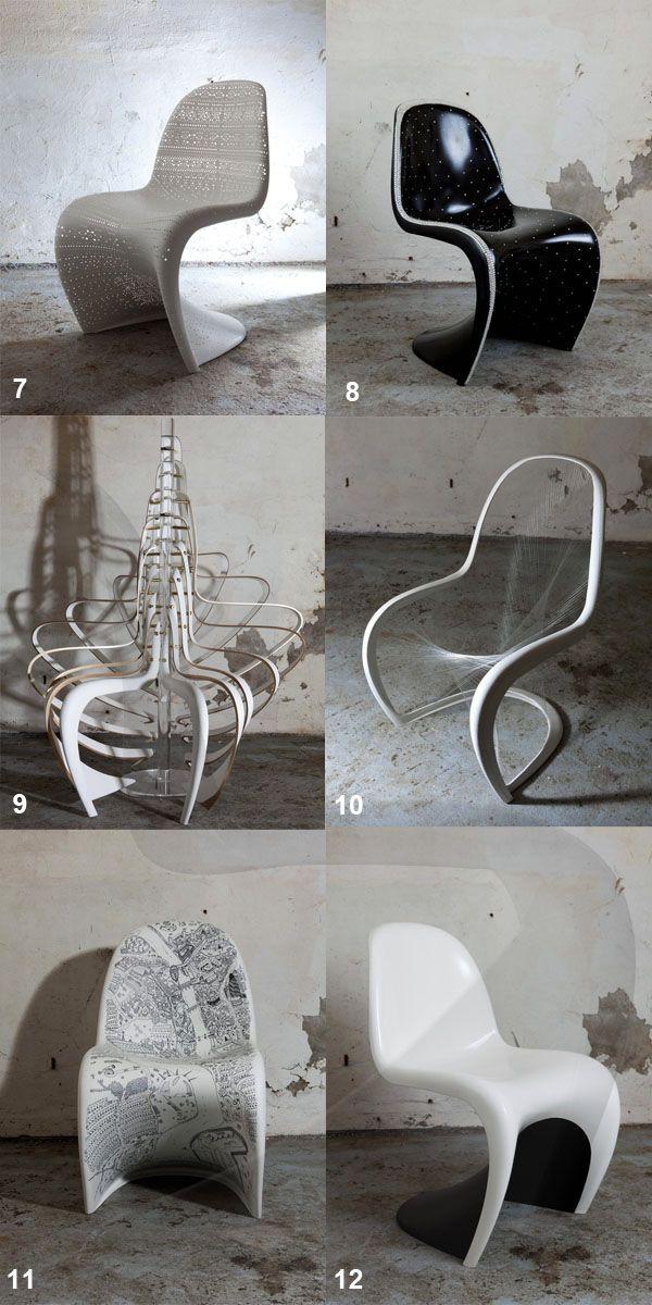 die besten 25 panton chair ideen auf pinterest. Black Bedroom Furniture Sets. Home Design Ideas