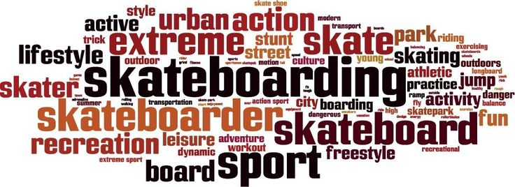 Skateboarding Word Cloud Set of 2 Home Decal Vinyl Sticker 14'' X 5'' * Continue to the product at the image link. (This is an affiliate link and I receive a commission for the sales)