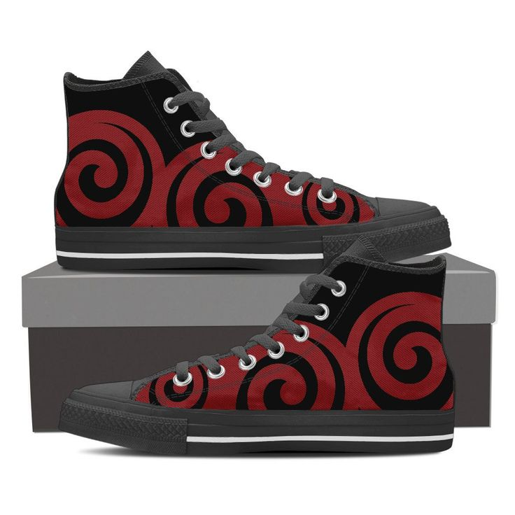 Mens High Top Shoes - Koru Red – My Shopn