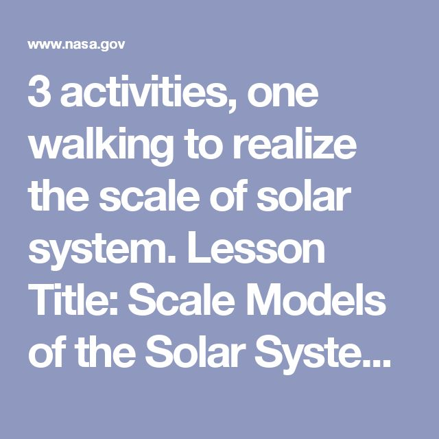 scale model solar system activity - photo #24