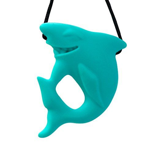 Stimtastic Chewable Silicone Shark Pendant Nontoxic BPA and Phthalate Free, Turquoise Stimtastic http://smile.amazon.com/dp/B010ULV39A/ref=cm_sw_r_pi_dp_ZXTGwb0NPH185