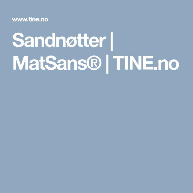 Sandnøtter | MatSans® | TINE.no