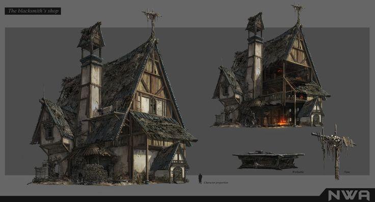 architecture, Night Watchart on ArtStation at https://www.artstation.com/artwork/LbdoA